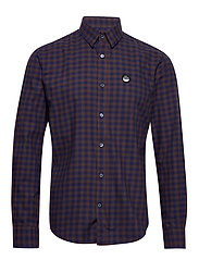 Brushed Twill Sumo - NAVY/BROWN CHECK