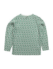 Flower Crepe Blizelina - GREEN PRINTED