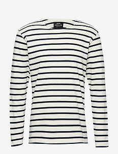 Picasso Tash Long - long-sleeved t-shirts - white alyssum/sky captain