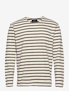 Picasso Tash Long - langermede t-skjorter - marshmallow/morel