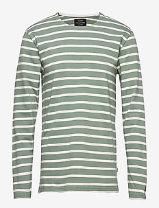 Picasso Tash Long - long-sleeved t-shirts - sea spray/white alyssum