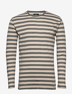 Duo Rib Tobias Long - long-sleeved t-shirts - granite g/silver cloud/granit