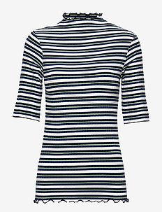 5x5 Dream Stripe Trutte Short - stribede t-shirts - navy multi