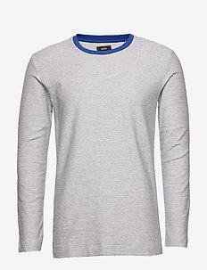 Slub Stripe Timo - long-sleeved t-shirts - ecru stripe