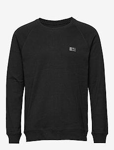 Cotton Rib Stelt Badge - BLACK