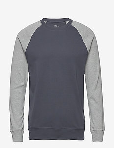 Cotton Rib Stelt Contrast - basic sweatshirts - dark grey/grey