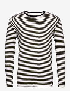 Duo Rib Tobias Long - långärmade t-shirts - marshmallow/forest night/black