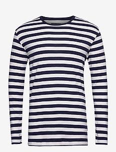 Midi Rib Tobias Long - langermede t-skjorter - marsh/sky captain/sky captain