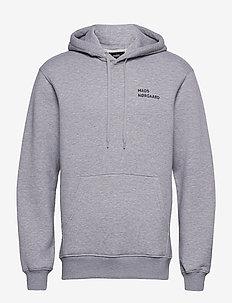 New Standard Hoodie Logo - basic sweatshirts - grey melange