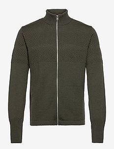 100% Wool Klemens Zip - basic strik - capers