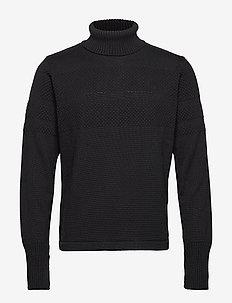 100% Wool Klemens - basisstrikkeplagg - black