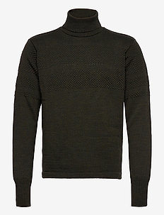 100% Wool Klemens - basic strik - forest night