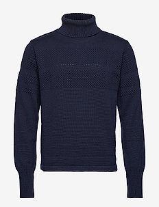 100% Wool Klemens - basisstrikkeplagg - navy