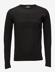 100% Light Wool Klap - basic-strickmode - black