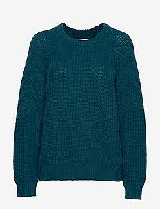 Recycled Favorite Wool Ketty - tröjor - dark petrol