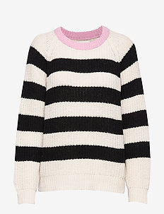 Recycled Favorite Wool Ketty - ECRU/BLACK/ROSE