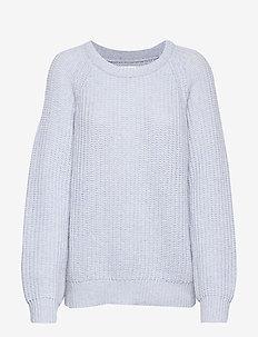 Recycled Favorite Wool Ketty - tröjor - light blue melange