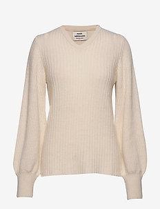 Recycled Wool Kaxilla V - tröjor - ecru