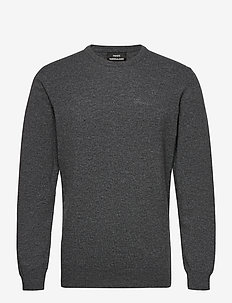 Eco Wool Karsten - stickade basplagg - charcoal melange