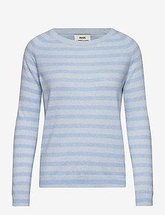 Cosy Recy Stripe Kaxa Stripe - tops met lange mouwen - tonal blue melange