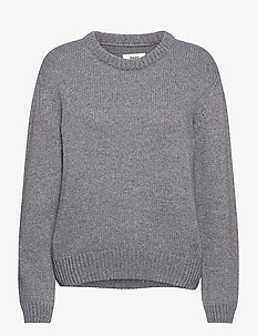 Recycled Wool Mix Kaily - jumpers - charcoal melange