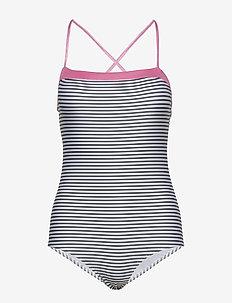 Ibiza Swimma - stroje kąpielow - white/black/shiny pink