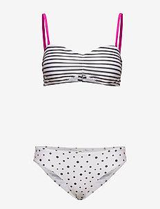 Ibiza Binna Boo - komplety bikini - off white/black