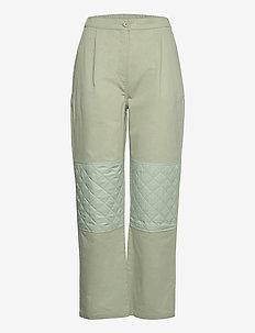 Twill Blend Poline - bukser med lige ben - light army