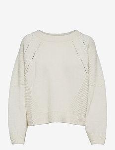 Recycled Wool Mix Kimberly - trøjer - ecru