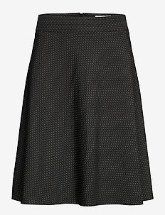 Recy Dot Stelly C - midi kjolar - black/beige dot