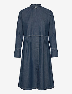 Light Indigo Dupina - shirt dresses - indigo