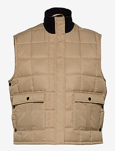 Duvet Dream Vibe - puffer vests - warm beige