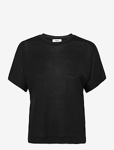 Delicate Jersey Trinity - t-shirts - black