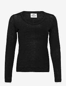 Delicate Jersey Tabitha - langærmede toppe - black