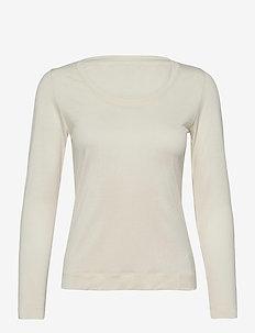 Delicate Jersey Tabitha - langærmede toppe - off white