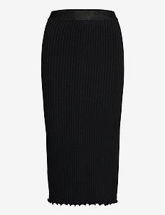 5x5 Solid Suzetta - midinederdele - black