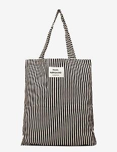 Sacky Atoma - tote bags - black/off white