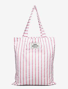 Sacky Atoma - sacs en toile - strawberry pink/white