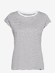 Organic Favorite Stripe Teasy - t-shirts - white/grey melange