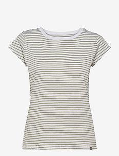 Organic Favorite Stripe Teasy - t-shirts - white/light army