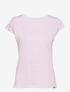 Organic Favorite Stripe Teasy - t-shirts - white/light pink