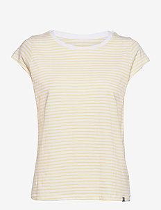 Organic Favorite Stripe Teasy - t-shirts - white/pale banana