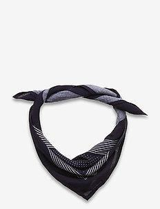 Bandana Asli - tørklæder - navy/off white dot