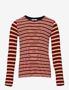 5x5 Stripe Mix Talika - lange mouwen - red multi