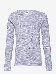 2x2 Cotton Mouline Talino - lange mouwen - blue/pink mouline