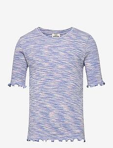 2x2 Cotton Mouline Tuviana - korte mouwen - blue/pink mouline