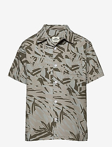 Jungle Print Samsino - overhemden - olive night