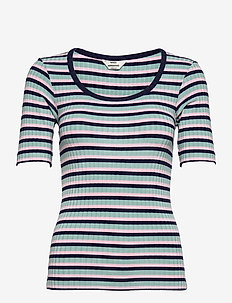 5x5 Stripe Taura - t-shirts - aqua/pink/navy