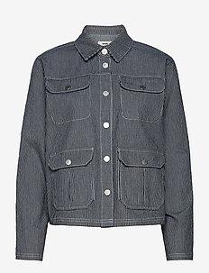 Deep Hickory Shanni - lette jakker - blue striped