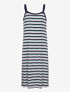5x5 Stripe Ducina - jurken & rokjes - aqua/pink/navy